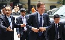 Thủ tướng Hà Lan tham quan hồ Hoàn Kiếm và đền Ngọc Sơn