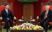 Tổng Bí thư Nguyễn Phú Trọng tiếp Ủy viên Quốc vụ Trung Quốc