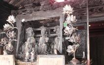 Di tích lịch sử Quốc gia đền Nhạn Tháp cháy dữ dội