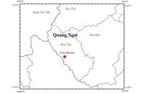 Lại động đất 2,9 độ richter tại Quảng Ngãi