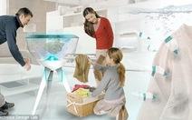 Làm sạch quần áo bằng robot cá