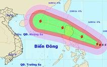 Bão gần biển Đông đang mạnh lên