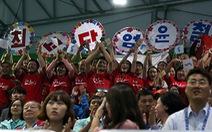Người Hàn Quốc thân thiện với VĐV Triều Tiên
