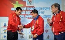Trao quyết định thăng đại tá cho Hoàng Xuân Vinh tại Asiad