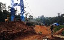 Cầu treo Sam Lang mới đã hoàn thành