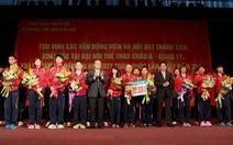 Hà Nội tôn vinh VĐV giành huy chương Asiad 17