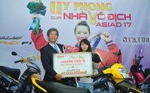 Dương Thúy Vi được thưởng 190 triệu đồng cho HCV Asiad