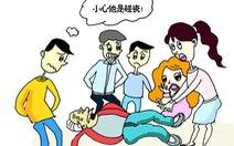 Trung Quốc: Cụ bà té gãy chân, người đi đường ngó lơ
