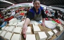 100 tấn đậu phụ độc hại tràn lan Trung Quốc