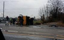 Mỹ: Xe buýt trường tiểu học gặp nạn, 2 học sinh tử vong