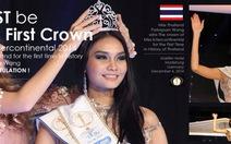 Thái Lan lần đầu đăng quang Hoa hậu liên lục địa