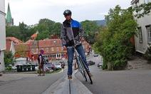 """""""Thang máycho xe đạp"""" duy nhất thế giới"""
