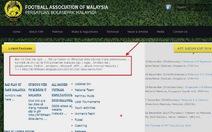 Website Liên đoàn bóng đá Malaysia bị hacker tấn công