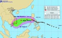 Bão Hagupit đã tiến vào biển Đông