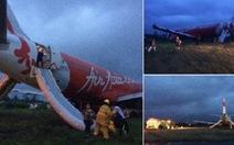Clip lại một máy bay AirAsia đáp xuống bãi cỏ
