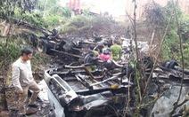 Tông xe cảnh sát giao thông, tài xế chết cháy trong cabin