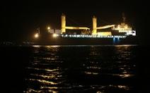 Tàu ngầm Hải Phòng vào đến vịnh Cam Ranh
