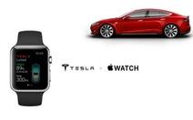 Rò rỉ ứng dụng tương thích Apple Watch trên Tesla Model S