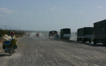 QL1A thi công, xe cộ nên tránh đoạn Tuy Phong