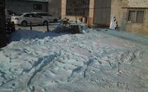Tuyết xanh ở nơi thiên thạch rơi, người dân hoảng hốt