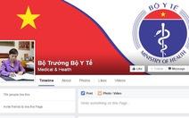 Bộ trưởng Bộ Y tế tiếp nhận thông tin qua Facebook
