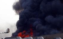 Trung tâm hội nghị Cairo cháy ngùn ngụt, 40 người bị thương