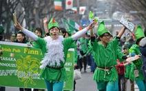 Ngập tràn màu xanh lá cây ngày lễ thánh Patrick trên thế giới