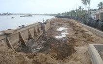 Bờ kè sông Cần Thơ chưa hoàn thành đã lo sạt lở