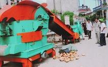 Nông dân chế tạo máy xử lý rác thải