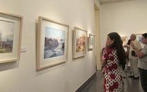 Tranh màu nướctại Bảo tàng Mỹ thuật Việt Nam