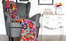 Làm đẹp nhà với những tấm chăn đan móc tuyệt sắc