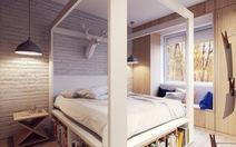 Những giường gỗ tiết kiệm không gian cho người yêu sách