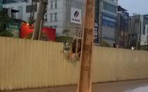 Tạm dừng thi công dự án để rơi cọc thép giữa Hà Nội
