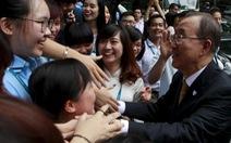 """Tổng thư ký Ban Ki Moon:""""Các bạn là lãnh đạo của hiện tại"""""""
