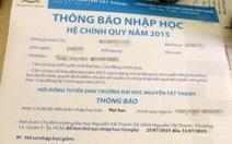 Chưa tốt nghiệp THPT đã có giấy báo vào ĐH