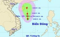 Áp thấp trên biển Đông có thể mạnh thành bão