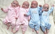 Hi hữu người mẹ sinh tư từ 4 trứng riêng biệt