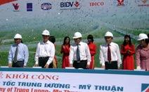 Cao tốc Trung Lương - Mỹ Thuận: khởi côngrồivẫn chờ mặt bằng