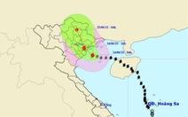 Bão số 1 gió giật cấp12-13, cảnh báo mưa dông tại Hà Nội
