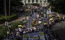 Người Hong Kong rồng rắn biểu tình đòi quyền bầu cử