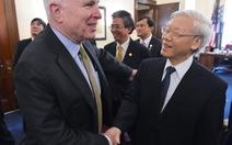 Tổng Bí thư Nguyễn Phú Trọng gặp Thượng Nghị sỹ JohnMcCain