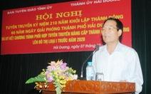 Bí thư Thành ủy Hải Dương xin từ chức chờ nghỉ hưu