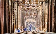 Chùm ảnh duy tu cây cầu Long Biên lịch sử