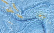 Động đất ở nam Thái Bình Dương, cảnh báo sóng thần