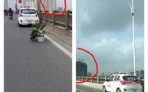 """Nghi vấn """"bẫy"""" taxi trên cầu Vĩnh Tuy:Tài xế bảo hỏng xe"""