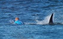Khán giả kinh hoàng khi VĐVlướt sóngthoát hàm cá mập