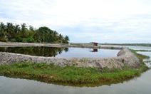 Lấn sông Trường Giang để nuôi tôm