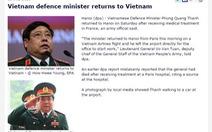DPA đăng tin cải chính về đại tướng Phùng Quang Thanh