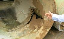 Đường ống nước sông Đà gặp sự cố lần thứ 12