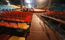 Sập ghế rạp xiếc hàng chục người bị thương, do thời tiết?